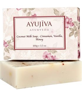 Luxury Classic Coconut Milk Soap with Cinnamon, Vanilla, Honey-100 ge (Skin Brigtening Soap)