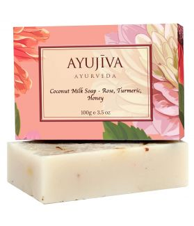 Luxury Classic Coconut Milk Soap with Rose, Turmeric, Honey-100 ge (Skin Brigtening Soap)