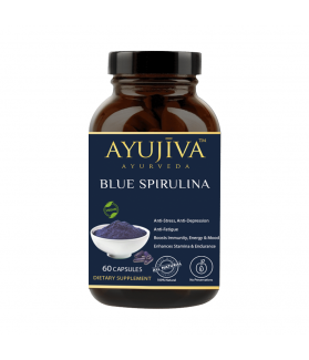 Blue Spirulina Superfood Capsules For Men & Women 500 MG 60 CAPSULES