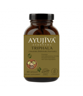 Triphala Capsules (Amalaki, bibhitaki, Haritaki) -60 veg Caps